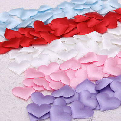 100Pcs Padded Fabric Throwing Petals Love Heart Table Wedding Party Decorations