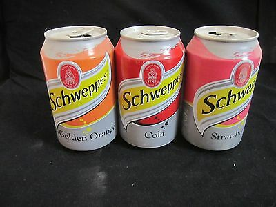 Schweppes  israel: 3 x empty 330ml  cans, a  complete set of  2010