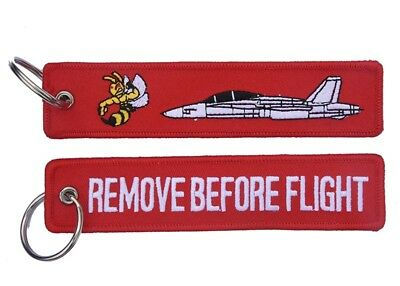 F/A-18B 'Classic' Hornet Remove Before Flight Key Ring Luggage Tag