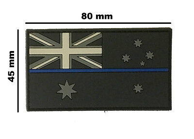 PVC Patch Thin Blue Line Australian Flag Patch - Subdued Finish - New