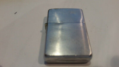 Working Zippo Cigarette Lighter brushed Chrome 1962