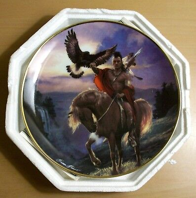 Hermon Adams SPIRIT OF THE East WIND Native Amer FRANKLIN MINT Collector Plate