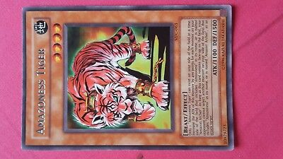 Amazoness Tiger Earth Beast Effect Yugioh Trading card Game Konami English