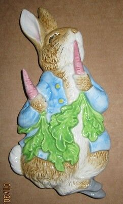 1990 Beatrix Potter PETER RABBIT Ceramic Wall Plaque SCHMID UNUSED IN BOX