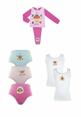 Hey Duggee Girls Pyjama and Pants and Vest Underwear Set 18 Months - 5 Years