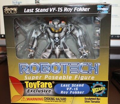 Robotech Last Stand VF-15 Roy Fokker Toy Fare Exclusive Sealed NEW 2002