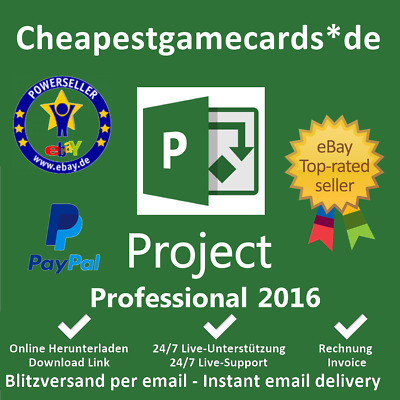 Microsoft Project 2016 PRO MS Project 2016 Professional Produktkey per email