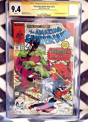 Amazing Spider-Man #312 CGC SS 2x 9.4 NM SIGNED TODD MCFARLANE & STAN LEE