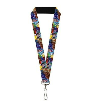 Beauty And The Beast Stained Glass Lanyard Blue