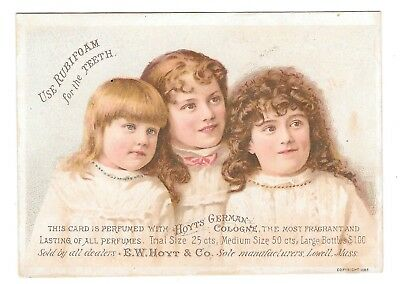 Victorian Trade Card Hoyts German Cologne Rubifoam for Teeth Frothingham Lynn MA