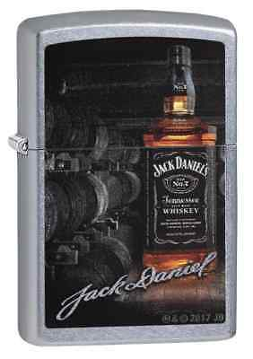 "Zippo ""Jack Daniel's"" Street Chrome Finish Lighter, Bottle,  29570"