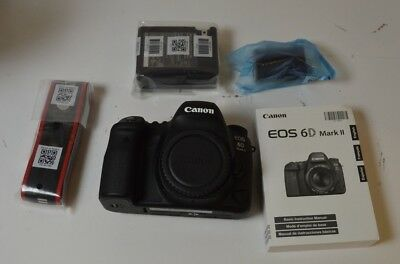 Canon EOS 6D Mark II 26.2MP Digital SLR Camera - Black (Body Only) Fantastic