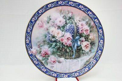"""ROSES"" Plate By LENA LIU 1st Edition Basket Bouquets WS GEORGE"