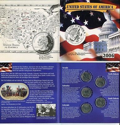 US State Quarter Satz 2006 im Folder   #4