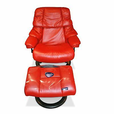 Stressless Designer Sessel Reno L Mit Hocker In Rot Eur 2290