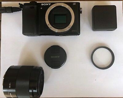 Sony Alpha a6000 24.3MP Digital Camera - with Sony 50mm F1.8 Prime Lens