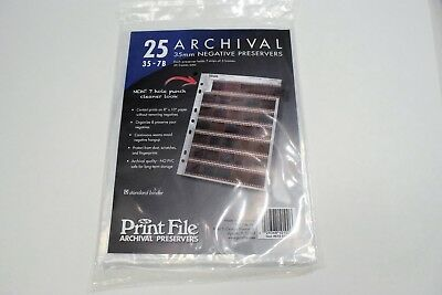Archival Storage Sheets 35-7B25 for 35mm Film Negatives 7 Strips (25 Pack) A789
