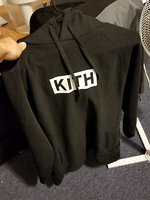 9d77e8103f250 IN HAND  KITH Champion Extended Hoodie Black Size Small  IN HAND ...