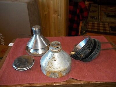 Vintage Lot of Cream Separator Cups Parts with Hanger & Other Parts