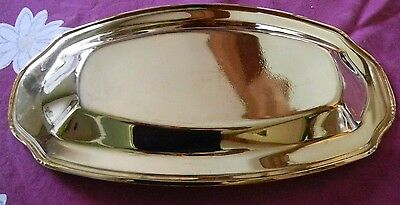 SILVER-PLATED ASSORTMENT WITH BONUS Gold-tone oval dish