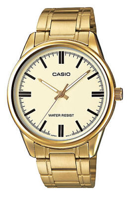 NEW MODEL Casio MTP-V005G-9A Men's Stainless Steel GOLD Dress Watch GOLD Dial