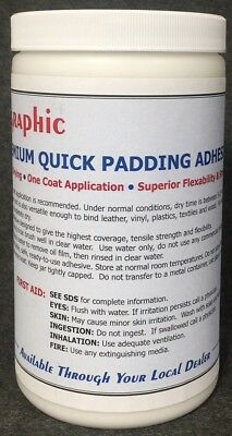 Padding Adhesive White Premium One Coat Quick Drying New 1 Quart