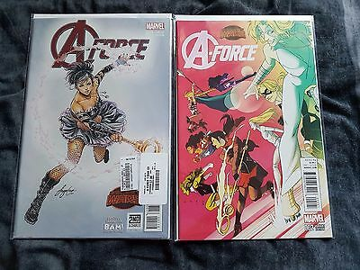 Marvel Complete Set of 5 A-Force Comics inc Rare Variants First Print Brand New!