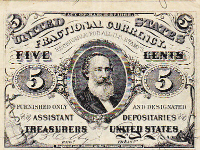 5C Five Cent 3rd (Third) Issue Fractional Currency