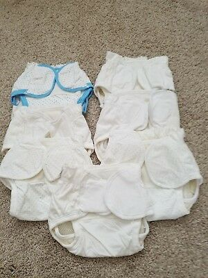 Lot of 7 Dappi Diaper Covers-Pre-Owned -6 Sm (6-13 lbs) and 1 Med (12-24) Velcro