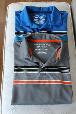 ZeroXposur Boys LOT of 2 collared Shirts Grey and Blue Size L 14-16 EUC