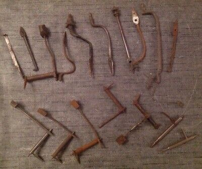 Antique Grandfather Clock Hammers Chime Bell Stands & Arms Ex Clockmakers Parts