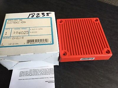 New Wheelock Electronic Horn EH-DL1-R with Instructions 12/24 V Free Shipping