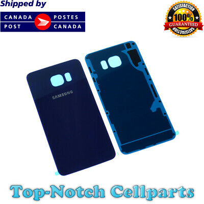 Samsung Galaxy S6 Edge Rear Back Glass Battery Cover Door with Adhesive - Blue