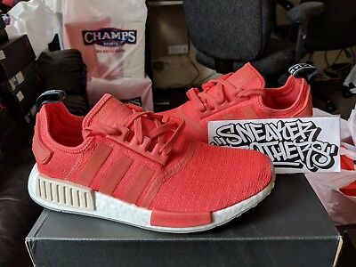 6be69c72ffa0 Adidas NMD R1 Runner W Nomad Women s Trace Scarlet Red Pink White Tan CQ2014