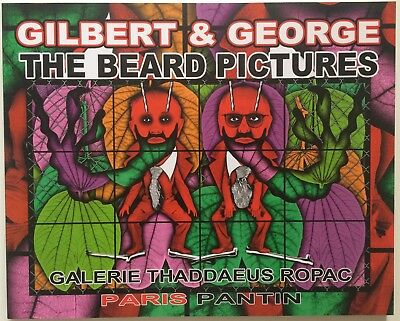 Catalogue Exposition The Beard Picture Gilbert & George Dédicacé Thaddaeus Ropac
