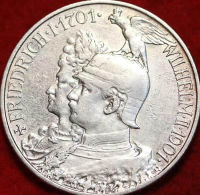 1901 Germany 2 Mark Silver Foreign Coin