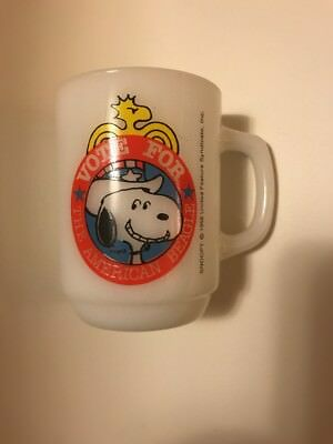 "Vintage Snoopy Mug ""Vote For The American Beagle"" 1980 Collectors Series No.2"