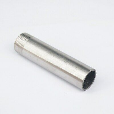 "1/2"" BSP Female Length 100mm 304 Stainless Pipe Fitting Weld Nipple Connector"