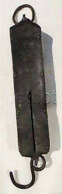 antique KNICKERBOCKER ICE CO phila pa HANGING 120lb SCALE wrought iron FORSCHNER