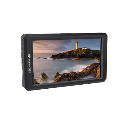 "US Warehouse Feelworld F6 5.7"" Full HD On-Camera Monitor 4K HDMI Input for DSLR"