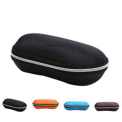 Round Shape Zipper Sunglasses Hard Eye Glasses Case Eyewear Protector Box