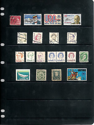 Stamps United States Canada Various Used 19 Stamps (736X)