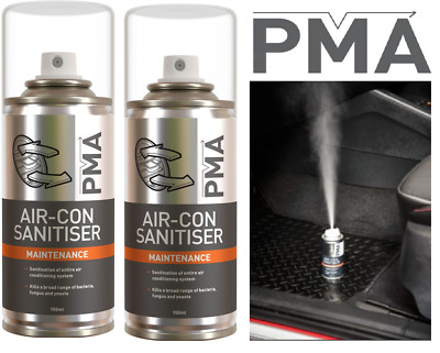 2 x PMA 150ml Car Air Con Conditioning Cleaner Purifier Cleaning Valet Bomb