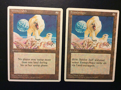 Magic the Gathering 1x Winter Orb 1x Frostbringer 4th Edition