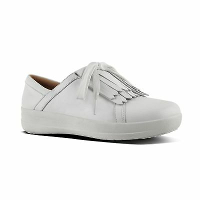f242226bb FitFlop™ F-SPORTY II™ Ladies Womens Leather Fringe Low Top Trainers Urban  White