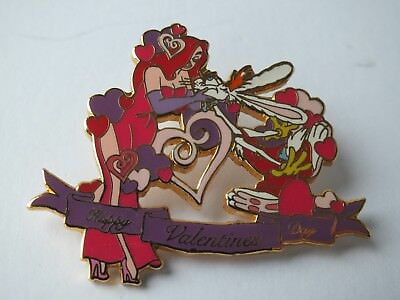 WDW Disney Auctions Pin Roger & Jessica Rabbit Valentines Day LE 1000