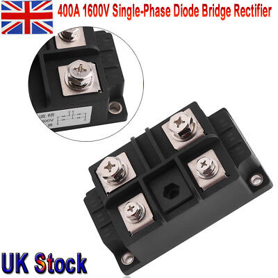 Single-Phase Diode Bridge Rectifier DC 400A 1600V Stable High Power 4 Terminals