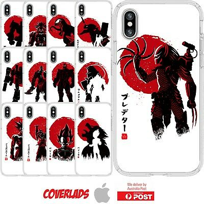 iPhone Silicone Cover Case Anime Marvel DBZ Game Japan Paint Sun - Customlads