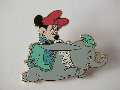 WDW Disney Pin Minnie Mouse on Dumbo Ride at the Magic Kingdom Limited Release