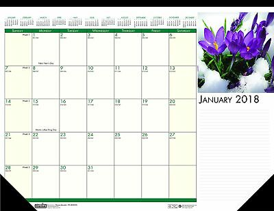 House of Doolittle 2018 Monthly Desk Pad Calendar, Earthscapes Flowers, 2... New